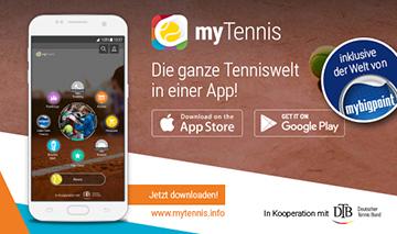 myTennis – die Tennis-App!