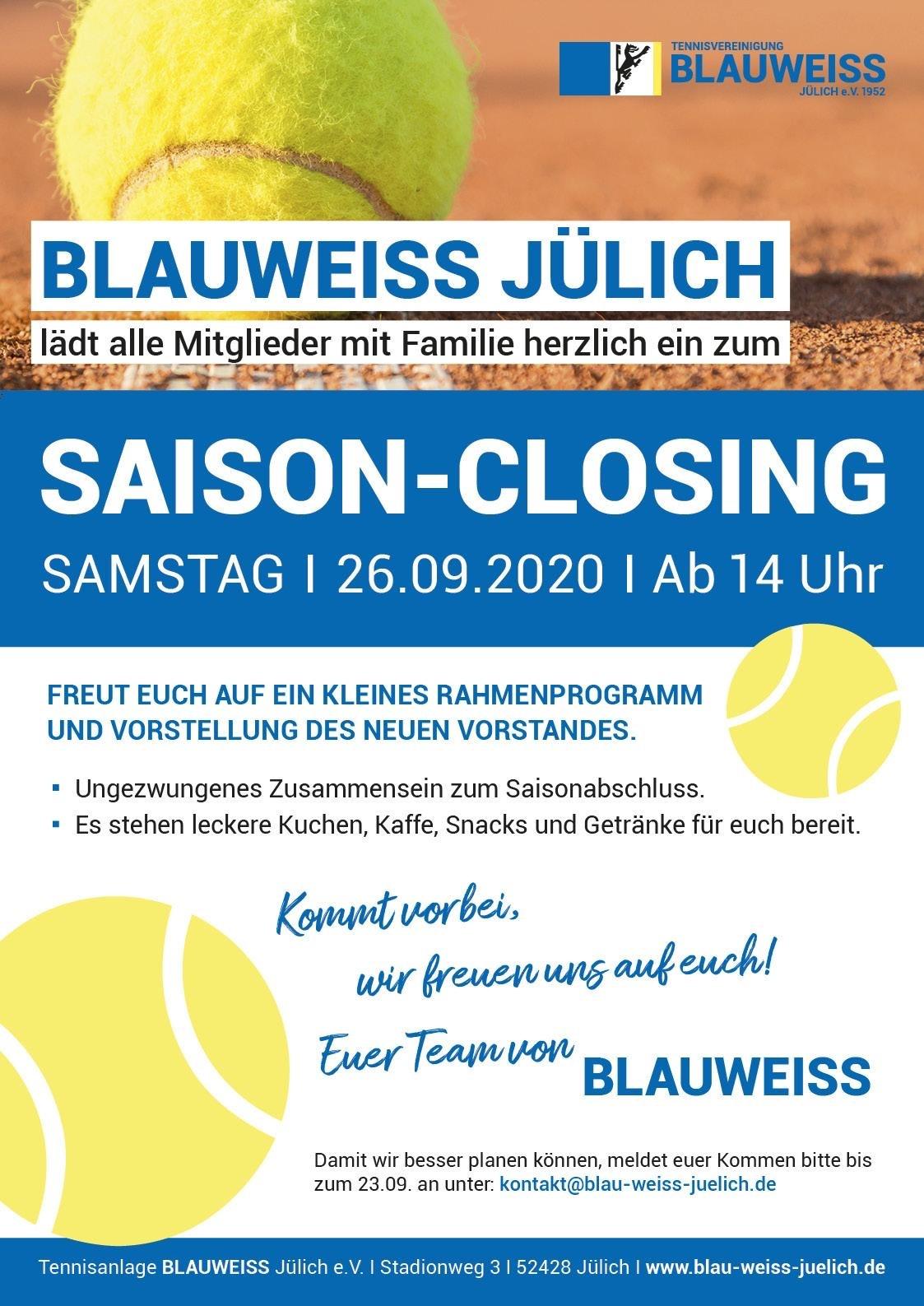BLAUWEISS Saison-Closing