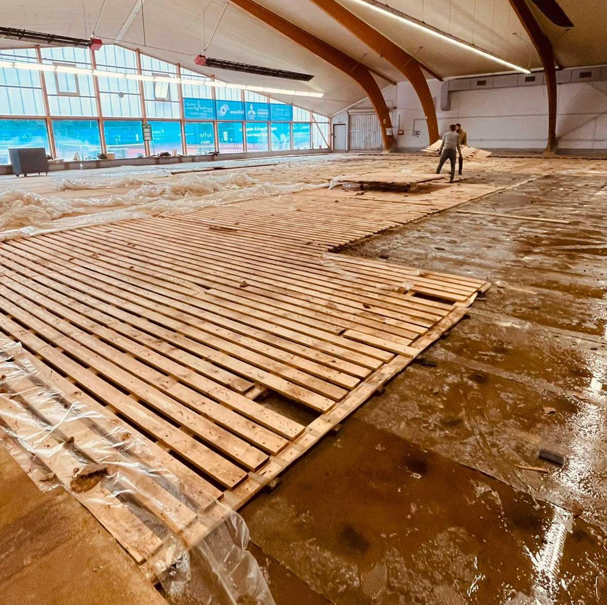 Sanierung der Halle