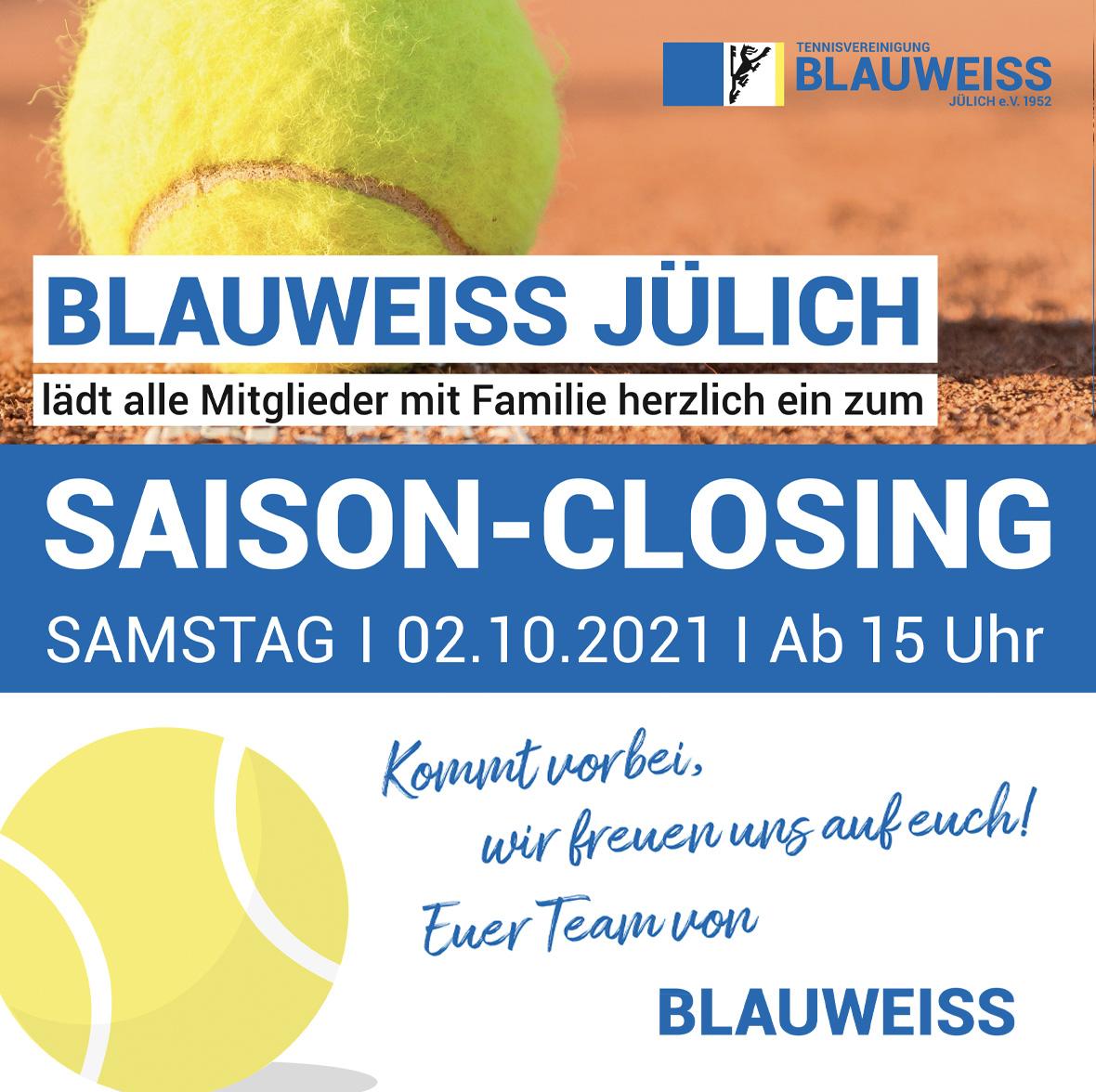 Saison-Closing am 02.10.2021